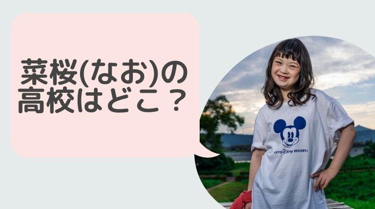菜桜(なお)モデルの高校はどこ?制服から徹底調査!