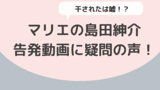 マリエの島田紳介への告発動画に疑問の声!枕を断ったから干されたは嘘だったことが発覚!?