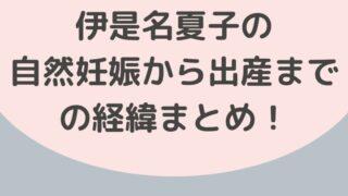 伊是名夏子の子作り方法がすごい!自然妊娠から出産までの経緯まとめ!-4