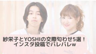 【画像】紗栄子とYOSHIの交際匂わせ5選!インスタ投稿でバレバレw